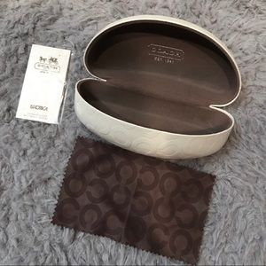 Coach Glasses Case and Coach cleaning cloth